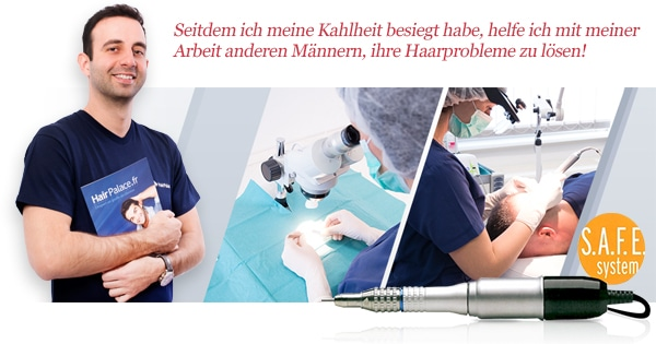 Haartransplantationsoperation bei Hairpalace