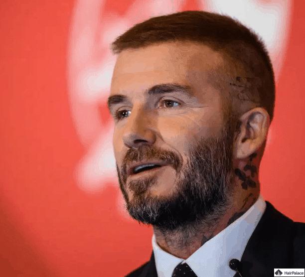 David Beckham nach einer möglichen Haartransplantation im Jahr 2018